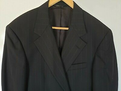 Polo University Club Ralph Lauren Mens 42 Reg Wool Blazer Suit Jacket Striped