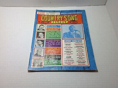 Vintge Country Song Roundup Magazine August 1967 Waylon Jennings Billy Walker