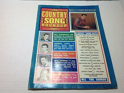 Vintge Country Song Roundup Magazine February 1968 Jonny Cash Hank Williams