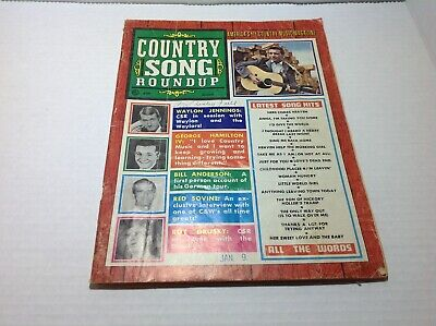 Vintage Country Song Roundup Magazine March 1968 Waylon Jennings Red Sovine