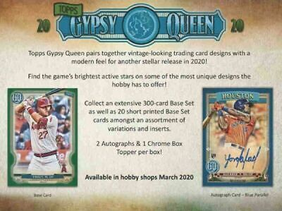 2020 Topps GYPSY QUEEN Baseball HOBBY Box Factory Sealed - FREE SHIPPING
