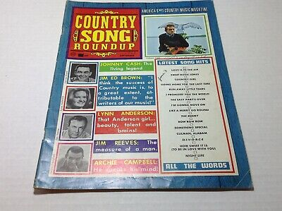 Vintage Country Song Roundup Magazine Sept 1968 Johnny Cash Lynn Anderson