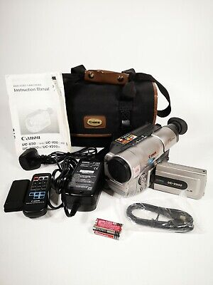 Canon UC-V200 22x Zoom 8mm Video 8 Camera Camcorder With Carry Bag