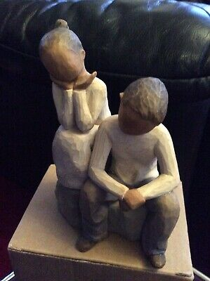 Willow Tree Figurine. Brother And Sister With Darker Skin Tone. BNIB.