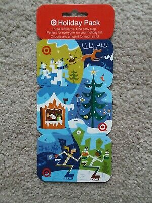 Set of 3 TARGET 2004 CHRISTMAS HOLIDAY PACK Gift Cards No Value Collectible