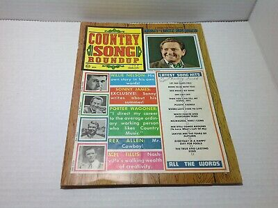 Vintage Country Song Roundup Magazine Feb 1969 Willie Nelson Sonny James