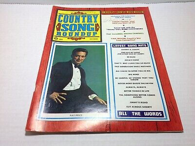 Vintage Country Song Roundup Magazine Oct 1969 Ray Price Faron Young