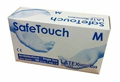 Disposable Latex Powder Free SafeTouch Strong White Medical Grade Gloves Size