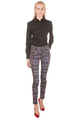 RRP €165 ISABEL MARANT Trousers Size 34 / XS Stretch Patterned Zip Fly