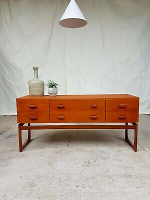 Vtg Mid Century Teak G Plan Quadrille Compact Sideboard Chest Of Drawers #364