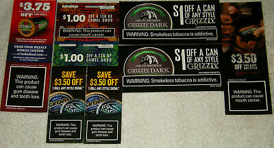 $18.25 Off Skoal Copenhagen Grizzly Camel Redseal 8 Total Coupons Exp April May