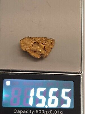 Natural gold nugget from the Western Australia 15.67g. (½Oz)