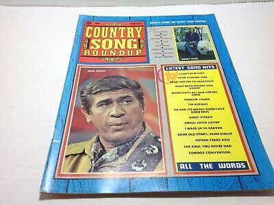 Vintage Country Song Roundup Magazine Feb 1971 Buck Owens Bobby Bare