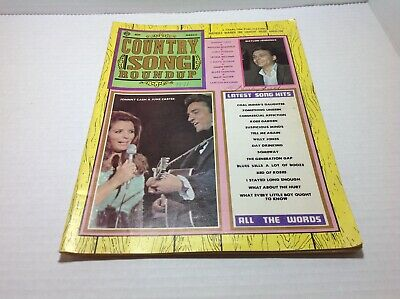 Vintage Country Song Roundup Magazine Mar 1971 Johnny Cash June Carter