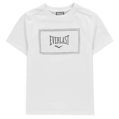Everlast Boys Graphic Logo T-shirt Top Junior Crew Neck T-Shirt