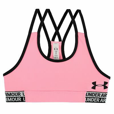 Under Armour Girls Sports Bra Training Gym Fitness Crop Top Junior Lightweight