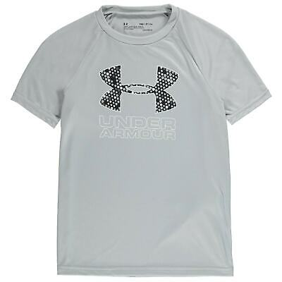 Under Armour Boys Tech Big Logo T-shirt Top Junior Short Sleeve Performance
