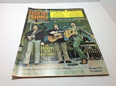 Vintage Country Song Roundup Magazine Sept 1972 Stomping Tom Tompall Glaser Bros