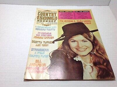 Vintage Country Song Roundup Magazine Oct 1972 Jeannie C. Riley Johnny Carver