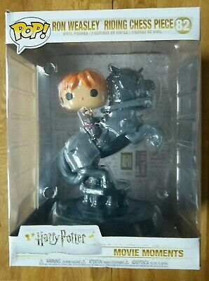 Funko Figurine Pop Movie Moments Harry Potter Ron Ridding Chess Piece Neuf