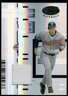 2005 Leaf Certified Materials Mirror Fabric White #144 Travis Hafner Jersey /100