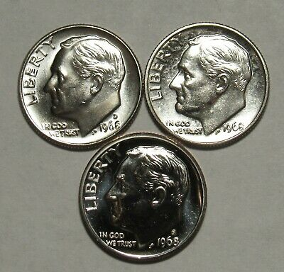1980 P,D/&S Roosevelt Dimes in BU and Proof condition