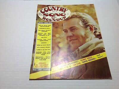 Vintage Country Song Roundup Magazine Dec 1973 Tommy Overstreet Kenny Price