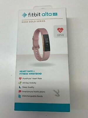 Fitbit Alta Hr Tracker Rose Gold Series with Box - Large