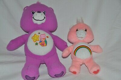 """Care Bear Set of Two:  Surprise 12""""  and Cheer Bear 8"""""""