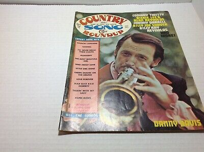 Vintage Country Song Roundup Magazine Feb1974 Danny Davis Conway Twitty