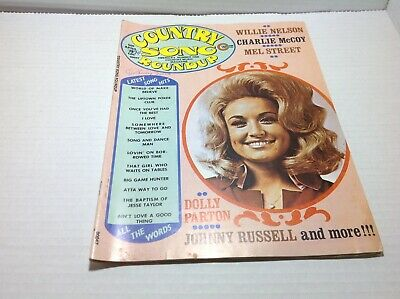 Vintage Country Song Roundup Magazine Apr 1974 Dolly Parton Willie Nelson