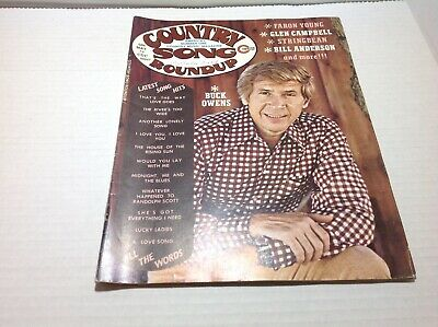 Vintage Country Song Roundup Magazine May 1974 Buck Owens Faron Young