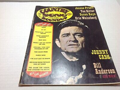 Vintage Country Song Roundup Magazine June 1974 Johnny Cash Jeanne Pruett