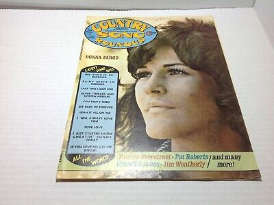Vintage Country Song Roundup Magazine Aug 1974 Donna Fargo Tommy Overstreet