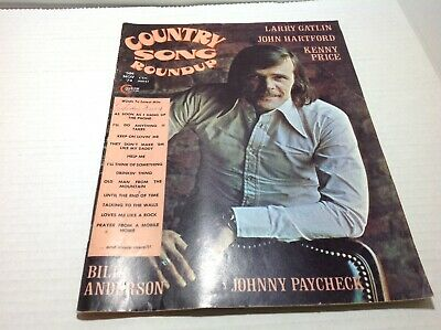 Vintage Country Song Roundup Magazine Nov 1974 Johnny Paycheck Larry Gatlin