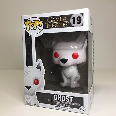 Funko Pop! Ghost 19 Game of Thrones Dire Wolf Vinyl Figure Free Shipping!