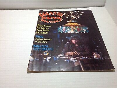 Vintage Country Song Roundup Magazine Mar 1975 Waylon Jennings Joe Stampley