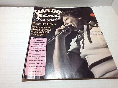 Vintage Country Song Roundup Magazine Apr 1975 Jerry Lee Lewis Stoney Edwards