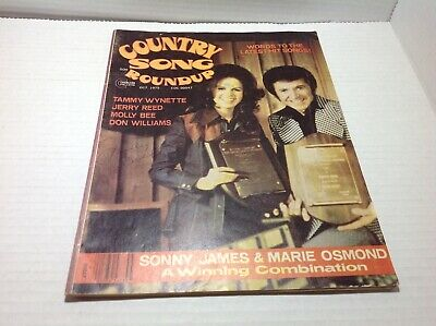 Vintage Country Song Roundup Magazine Oct 1975 Sonny James Marie Osmond