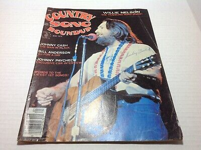Vintage Country Song Roundup Magazine May 1976 Willie Nelson Johnny Cash
