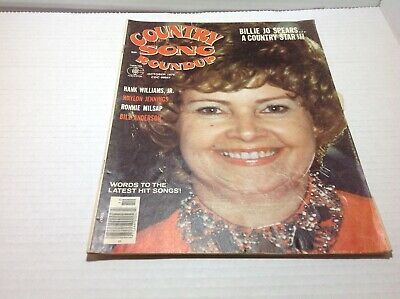 Vintage Country Song Roundup Magazine Oct 1976 Billie Jo Spears Waylon Jennings