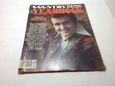 Vintage Country Song Roundup Yearbook Magazine Summer 1977 Bill Anderson & More