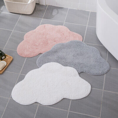 White/Pink/Grey Cloud Rugs Kids Children Bedroom Nursery Cotton Floor Carpet Mat