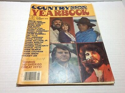 Vintage Country Song Roundup Yearbook Magazine Summer 1979 Kenny Rogers & More