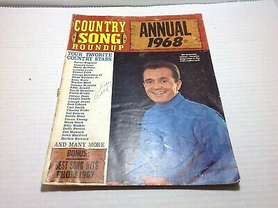 Vintage Country Song Roundup Annual 1968 Porter Wagoner Bill Anderson & More