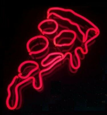 New Pizza Red Real Neon Sign Beer Bar Light Home Decor Hand Made Artwork