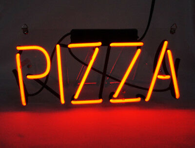 PIZZA Red Real Neon Sign Beer Bar Light Home Decor Hand Made Artwork
