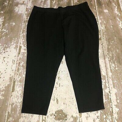 Philosophy Republic Clothing Women Black Casual Pull On Stretch Pants Plus Sz 3X