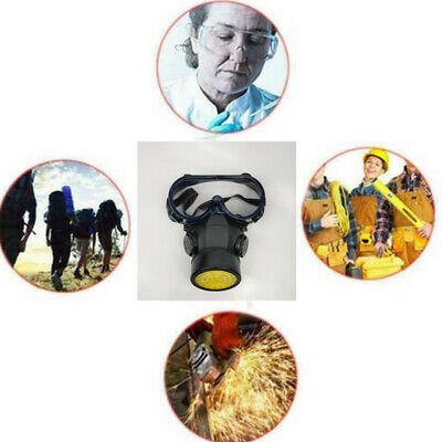 Emergency Respirator Mask Chemical Gas Mask with Goggles Single valve Protection
