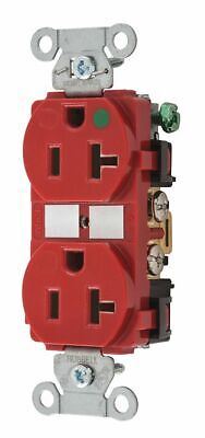 Bryant 20,  Hospital Grade,  Receptacle,  Red,  No Tamper Resistant Red  Nylon